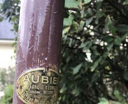 Ancienne échelle de peintre vintage marron