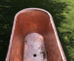 Baignoire en cuivre étamé