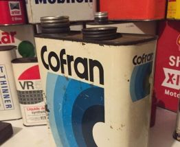 Bidon huile COFRAN ancien Plein scellé
