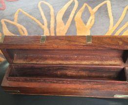 Jolie boîte bois et cuivre