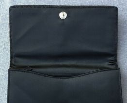 pochette, minaudière années 50, brodée  de 1300 strass