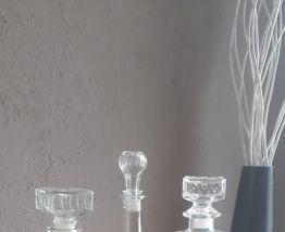 Trio de carafes vintage
