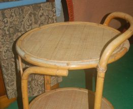 table roulante rotin