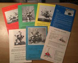 """7 livrets """"Les carnets de Françoise Bernard"""" 1960/61"""
