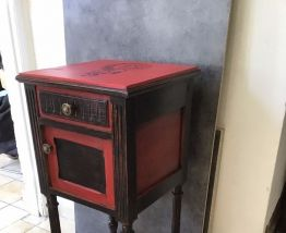 Table de chevet relooké