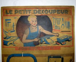 Ancien jouet Loly: panoplie Le Petit Découpeur