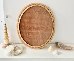 Cadre rotin coquillages