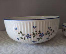 Saladiers Porcelaine de LIMOGES Décor bleuets