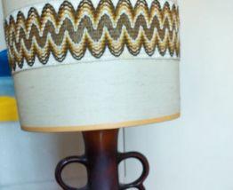 Lampe de sol vintage pied céramique émaillé