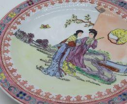 Assiette décorative email chinoise