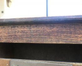 Boîte aux lettres ancienne en bois