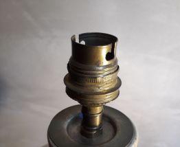 pied de lampe terre cuite vernissé + doulle  35x20