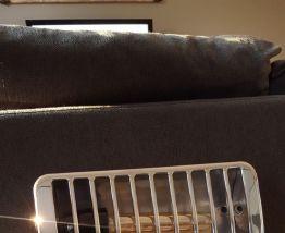 Ancien chauffage Thermor transformé en lampe