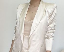 Long silk vest jacket