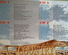 Coffret 4 CD Country