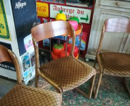Chaises traineau, Baumann, Vintage, scandinave