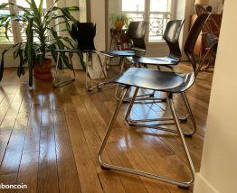 4 chaises vintage Adam Stegner Flötotto 1960s