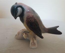 Oiseau mésange en porcelaine