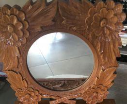 Coffre miroir sculpté main Suède