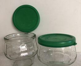 Paire de pots de confiture JAMPIL - Vert