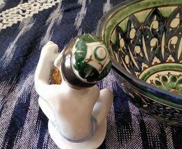Figurine Lomonosov: garçon ouzbek