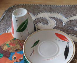 """Tasse et soucoupe sovietique """"feuilles automnales"""""""
