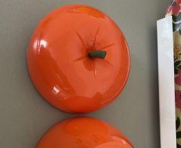 Pomme Orange bac à glaçons année 70