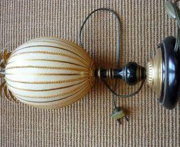lampe vintage oeuf d'autruche façon Maison Charles rare