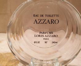 Flacon lenticulaire Azzaro pour femme années 80 plus édité