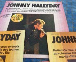 lot 7 vinyles Johnny Hallyday
