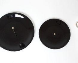 Assiette de service vintage à 2 niveaux en noire, comme neuf