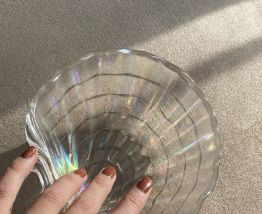 Grand vide poche Coquillage transparent.