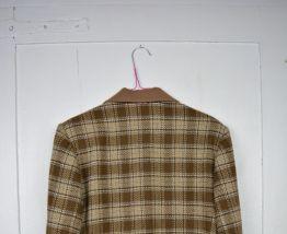 Blazer à carreaux en laine