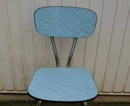 Lot chaises formica bleu