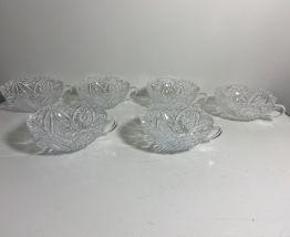 Set de 6 tasses à café en verre vintage