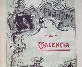 Exceptionnelle Affiche ancienne Corrida 1908 Valencia