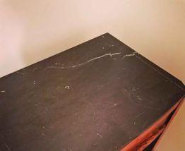 Table de chevet bois et plateau marbre