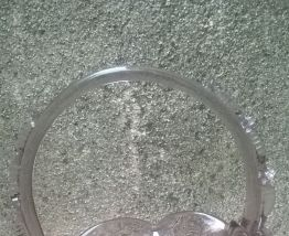 "Panier en verre ""travail artisanal"""