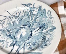 Assiette oiseau en Faïence