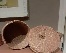 3 boîtes gigognes en fibre naturelle tressée