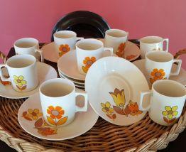 Service à café porcelaine Vintage