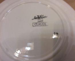 """Lot 4 assiettes plates Sarreguemines """"Claude"""""""