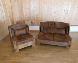 Canapé et fauteuil vintage  de fabrication artisanale