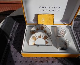 CHRISTIAN LACROIX SERVICE A CAFE 2 TASSES MOCADOR NEUF