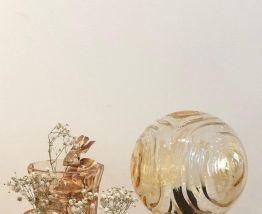 Lampe à poser globe vintage années 70