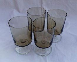 Lot 4 grands verres luminarc vintage