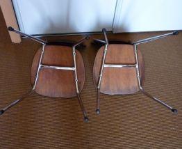 2 chaise de cuisine formica et chrome années 70