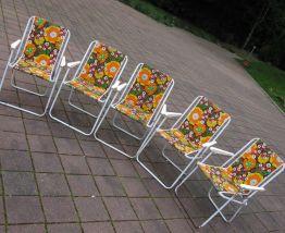lot de 5 fauteuils pliables