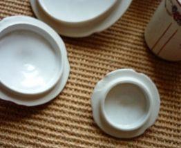 3 pots en faience sucre pates et poivre 1910 cuisine