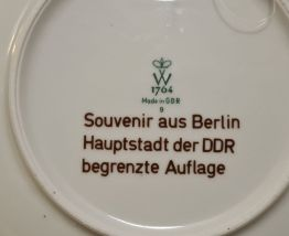 Assiette souvenir de Berlin W1764 Made in GRD